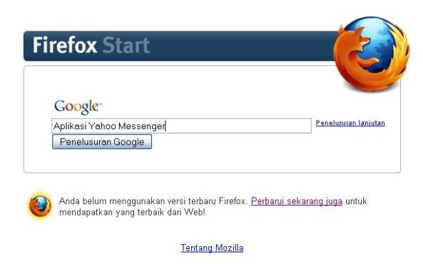 Pencarian Aplikasi Yahoo! Messenger