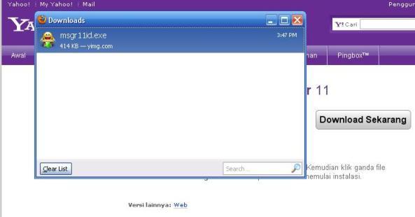 File Aplikasi Yahoo! Messenger