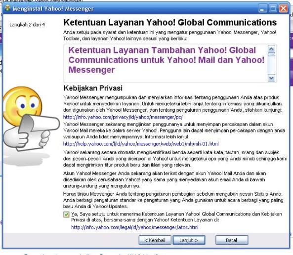 Instalasi Yahoo! Messenger