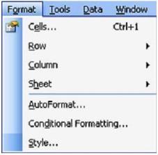 Submenu Format