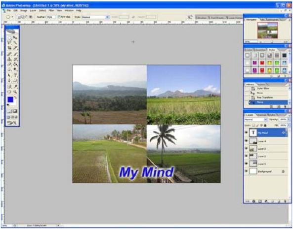 Tampilan Adobe Photoshop