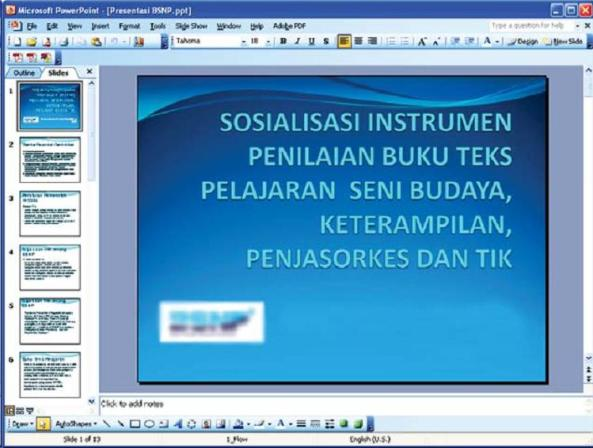 Tampilan MS. Power Point 2003