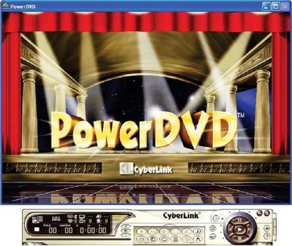 Tampilan Power DVD